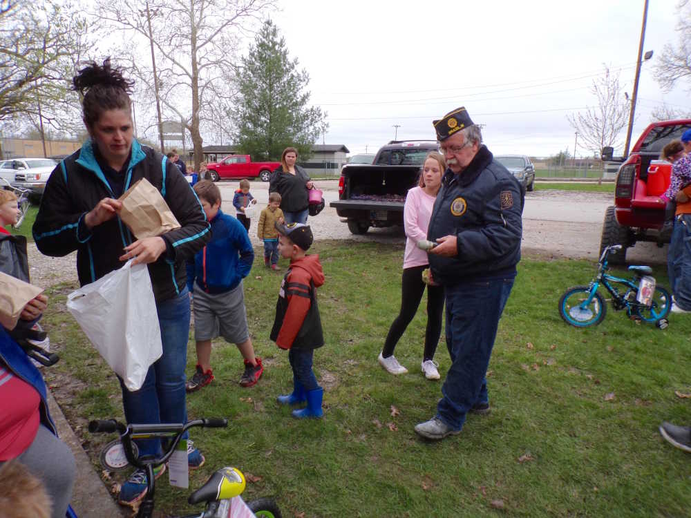 Soggy weather slightly changes the Community Easter Egg Hunt, but didn't stop the fun