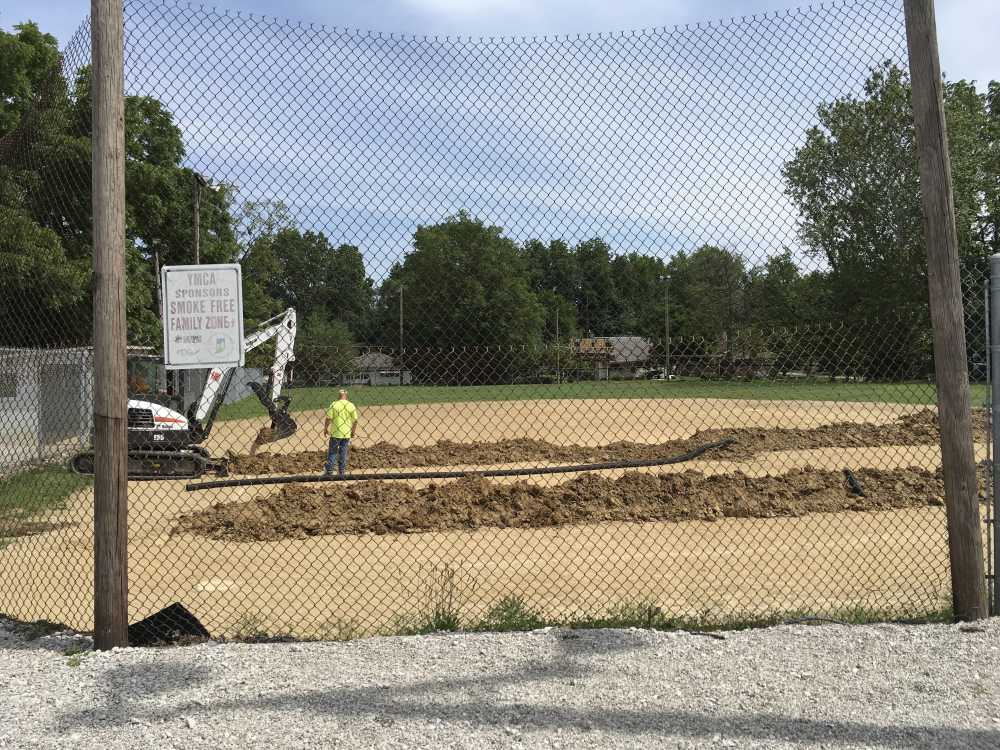 Softball field at Forest Park receiving much-needed drainage work