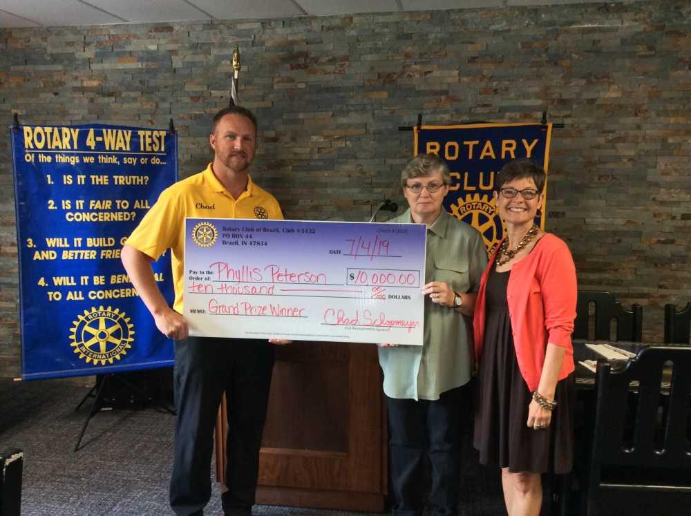 Rotary presents $10,000 check
