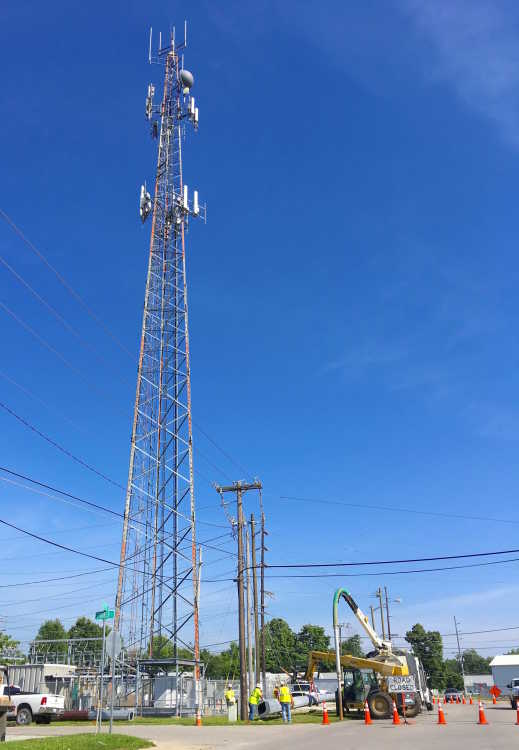 Duke Energy substation/closed road