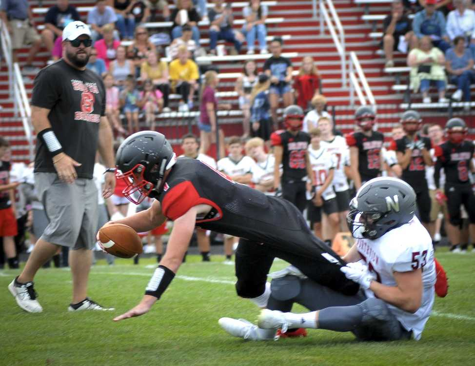 Knights, Braves mix it up in football scrimmage