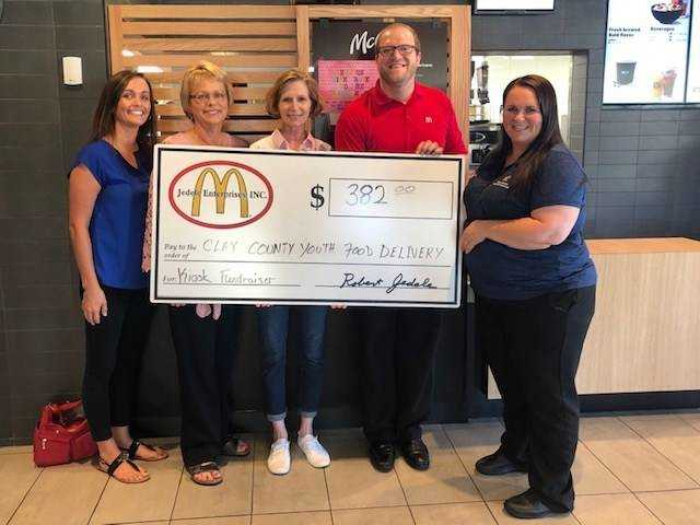 McDonald's customers donate nearly $400 to Youth Food Program