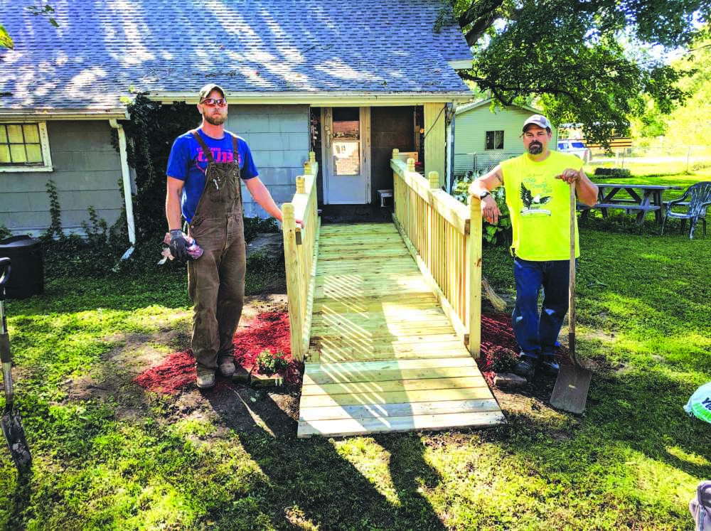 Vets build ramp for World War II hero