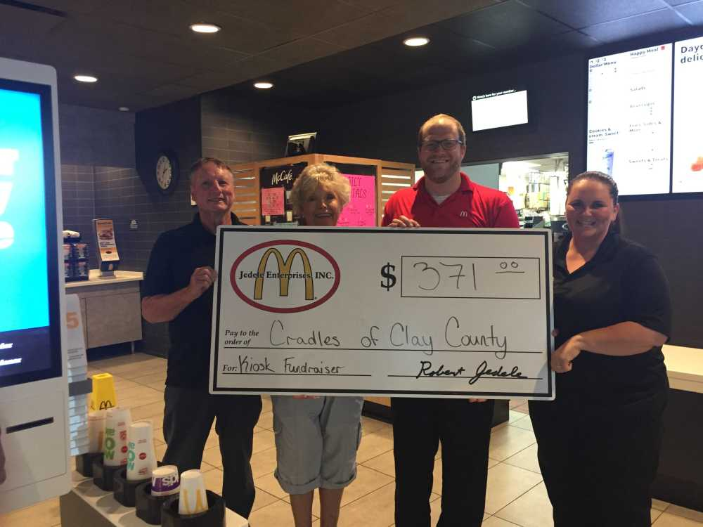 McDonald's gives back to celebrate new kiosks