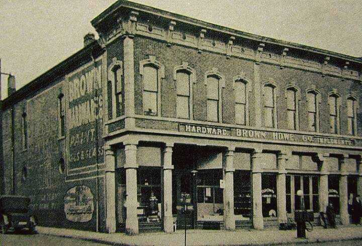 CLAY COUNTY THROUGH THE YEARS: Brown Hardware Company Building