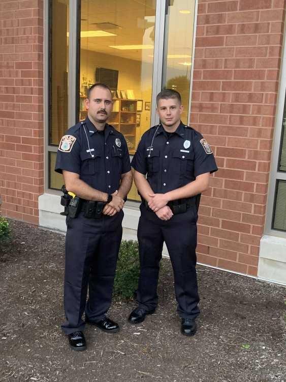 Brothers in blue wish two new officers a safe and successful career