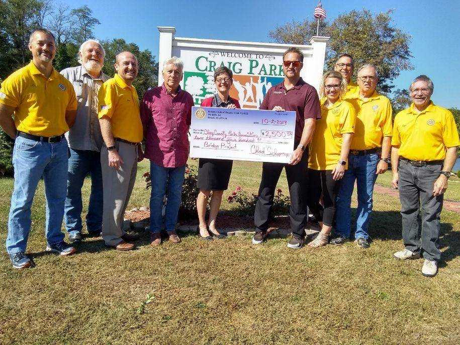 Rotarians in the news: Donation to bridge project