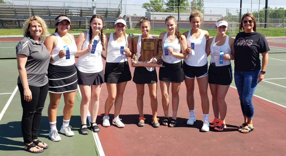 Knights capture 21st girls sectional tennis title with win over Patriots