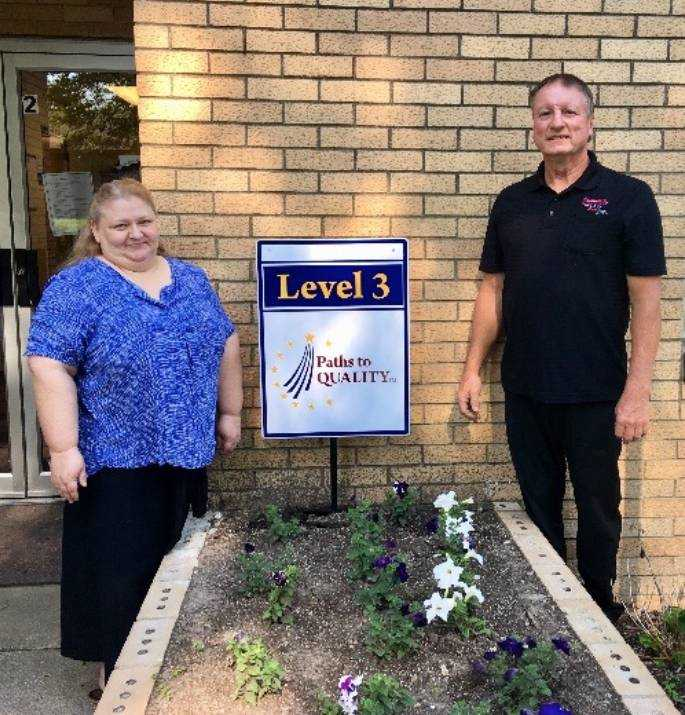 New Level 3 in Paths to Quality signs at CRADLES