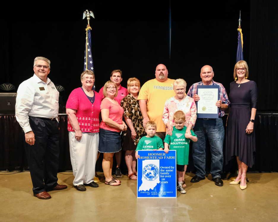 McCullough farm recognized with Hoosier Homestead award