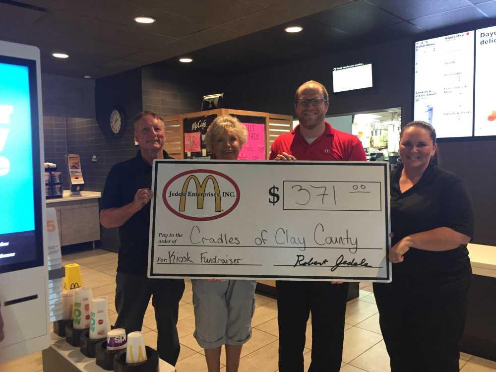 McDonald's gives back to celebrate new kiosks